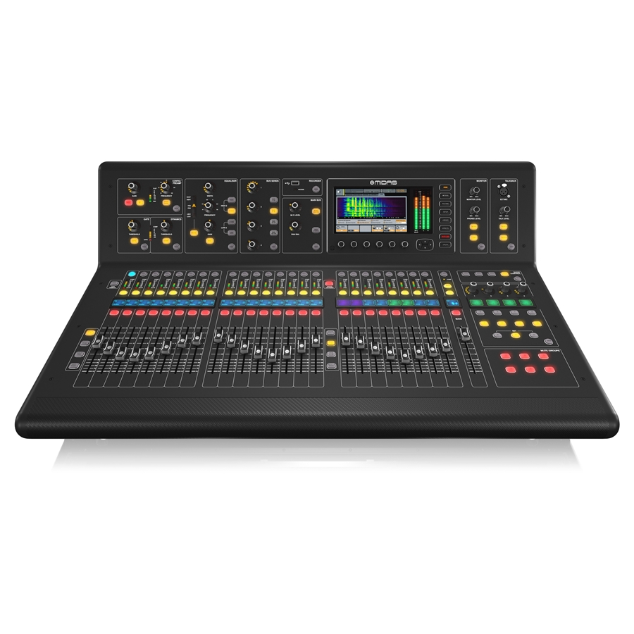 Digital Console for Live and Studio with 40 Input Channels, 32 Midas Microphone Preamplifiers and 25 Mix Buses