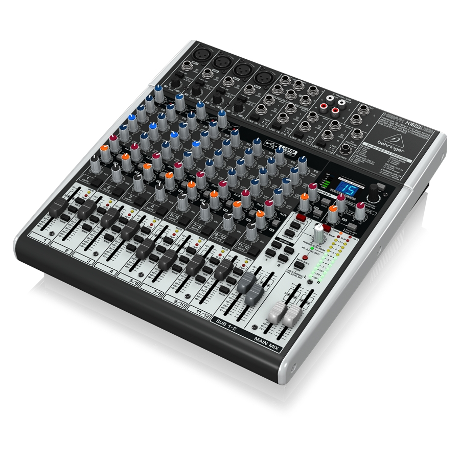 Premium 16-Input 2/2-Bus Mixer with XENYX Mic Preamps & Compressors, British EQs, 24-Bit Multi-FX Processor and USB/Audio Interface