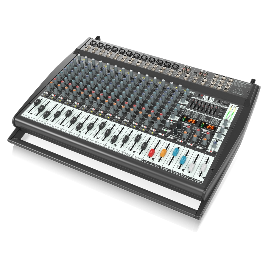 1600-Watt 20-Channel Powered Mixer with Dual Multi-FX Processor and FBQ Feedback Detection System