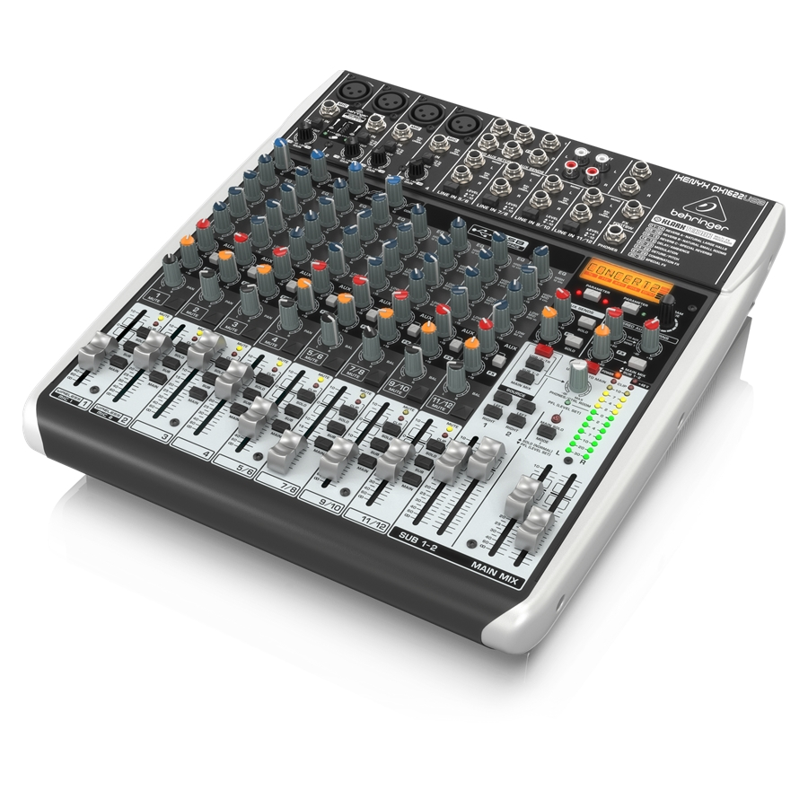 Premium 16-Input 2/2-Bus Mixer with XENYX Mic Preamps & Compressors, Klark Teknik Multi-FX Processor, Wireless Option and USB/Audio Interface