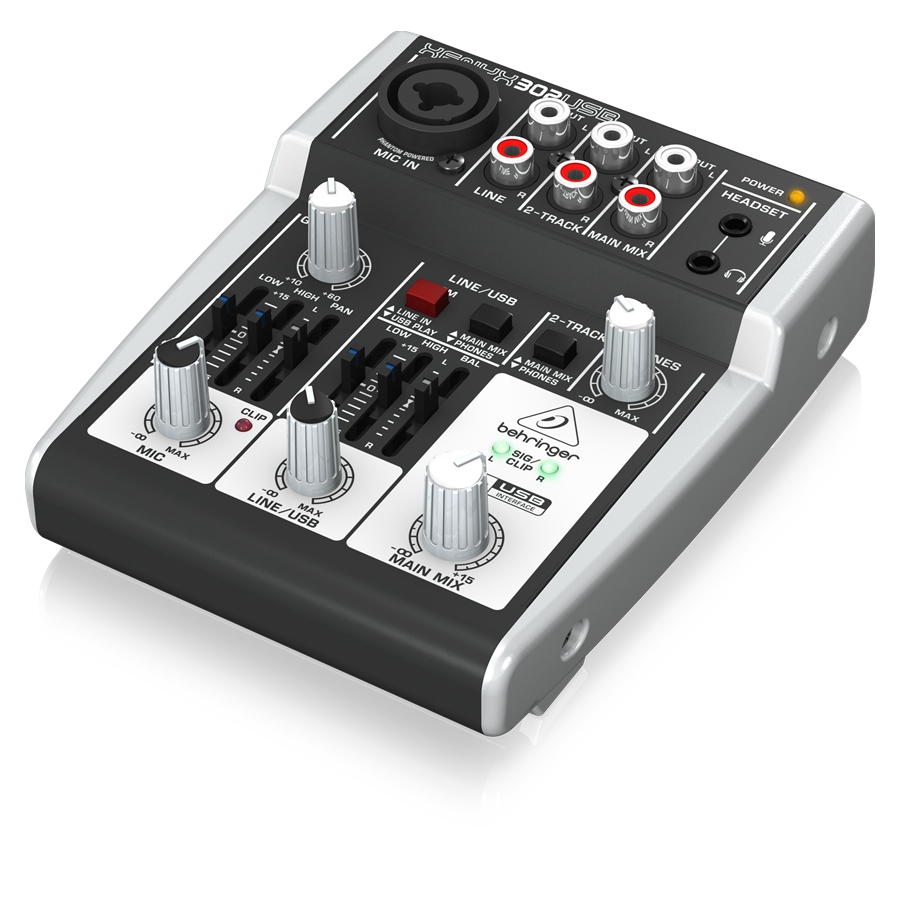 Premium 5-Input Mixer with XENYX Mic Preamp and USB/Audio Interface