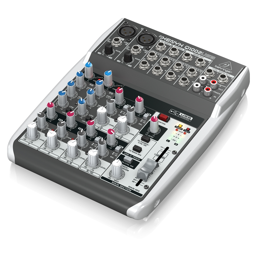 Premium 10-Input 2-Bus Mixer with XENYX Mic Preamps & Compressors, British EQs and USB/Audio Interface