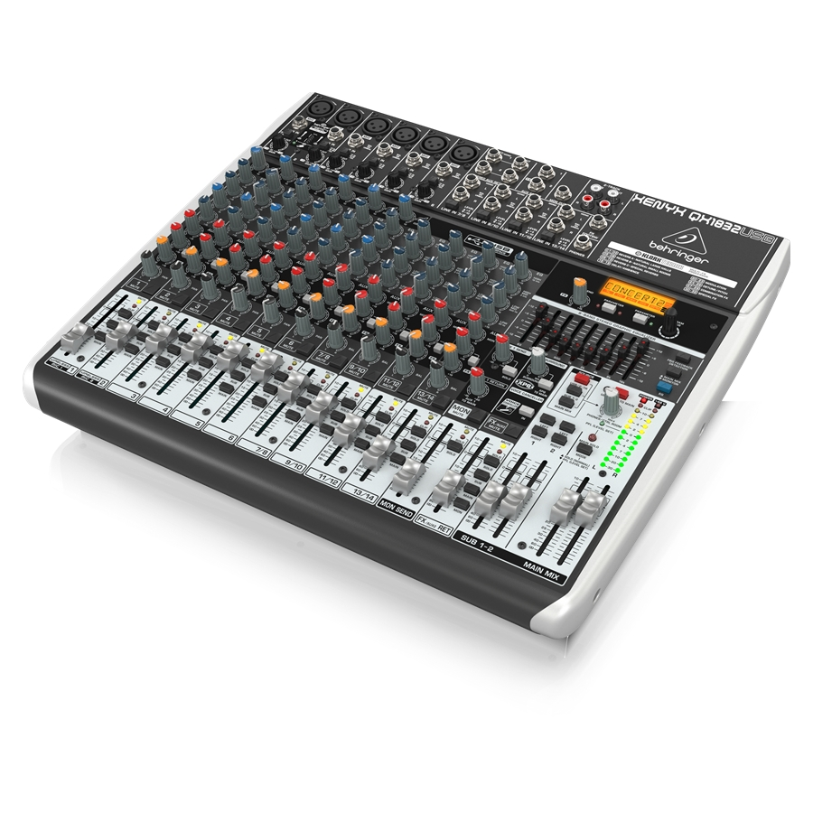 Premium 18-Input 3/2-Bus Mixer with XENYX Mic Preamps & Compressors, Klark Teknik Multi-FX Processor, Wireless Option and USB/Audio Interface