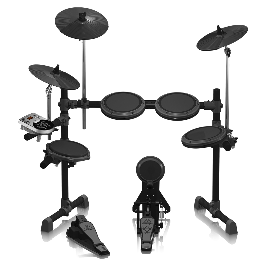 8-Piece Electronic Drum Set with 123 Sounds, 15 Drum Sets and USB Interface