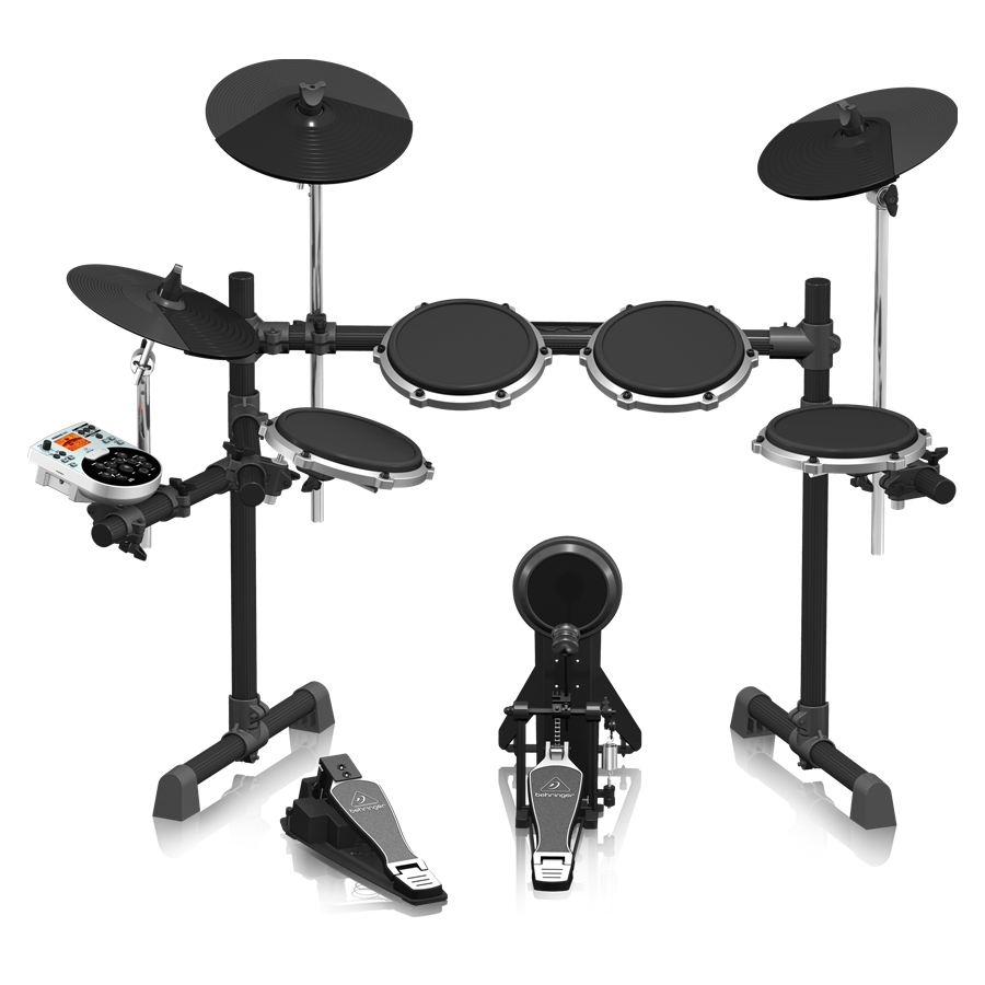 High-Performance 8-Piece Electronic Drum Set with 175 Sounds, 15 Drum Sets, LCD Display and USB/MIDI Interface