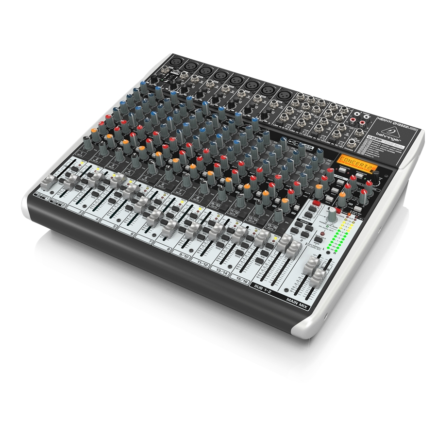 Premium 22-Input 2/2-Bus Mixer with XENYX Mic Preamps & Compressors, Klark Teknik Multi-FX Processor, Wireless Option and USB/Audio Interface