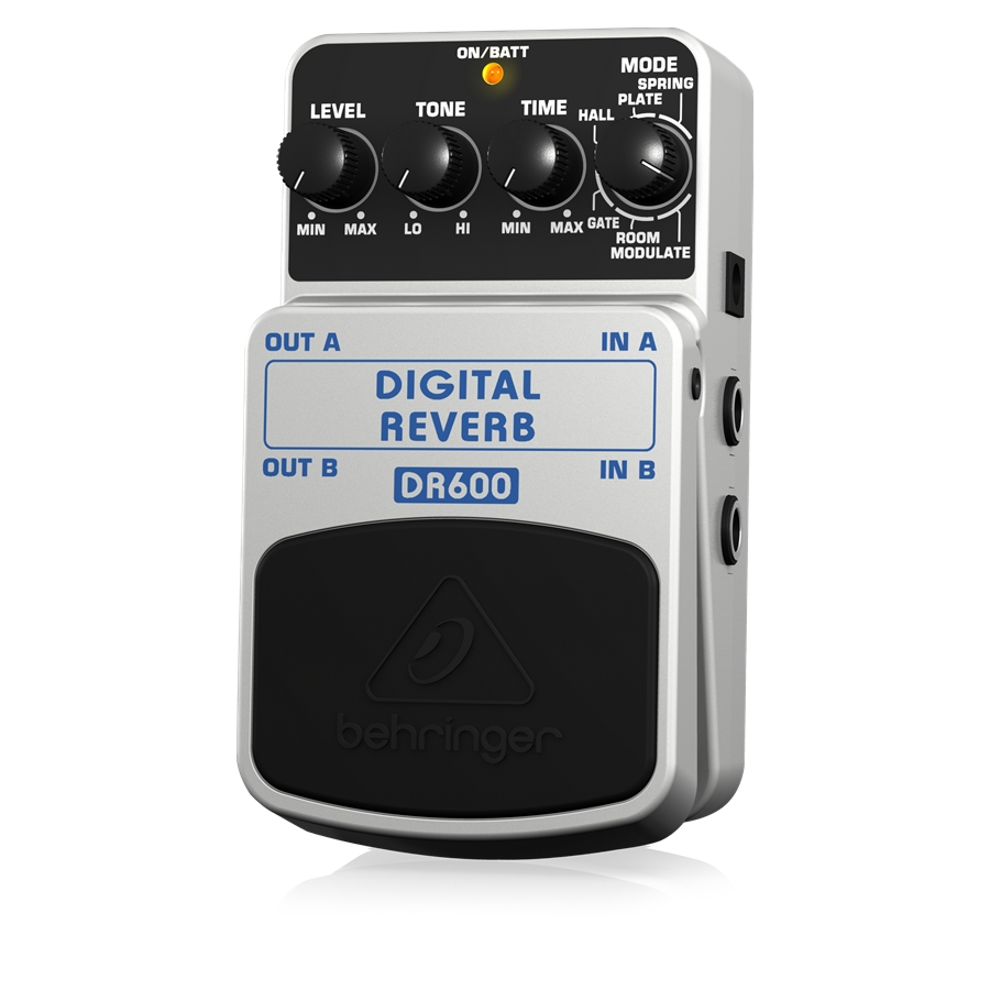 Digital Stereo Reverb Effects Pedal