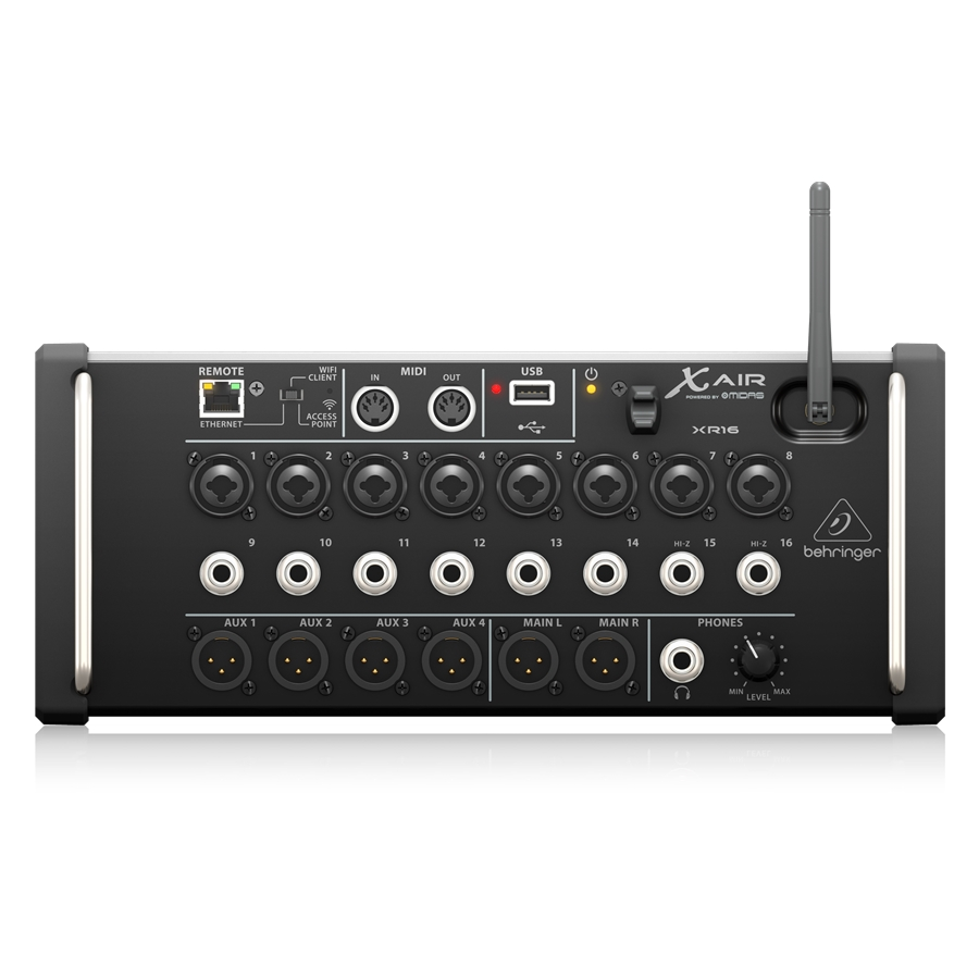 16-Input Digital Mixer for iPad/Android Tablets with 8 Programmable Midas Preamps, 8 Line Inputs, Integrated Wifi Module and USB Stereo Recorder