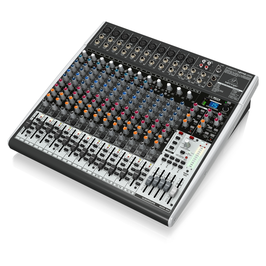Premium 24-Input 4/2-Bus Mixer with XENYX Mic Preamps & Compressors, British EQs, 24-Bit Multi-FX Processor and USB/Audio Interface
