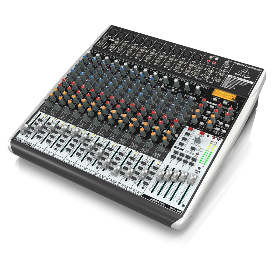 Premium 24-Input 4/2-Bus Mixer with XENYX Mic Preamps & Compressors, Klark Teknik Multi-FX Processor, Wireless Option and USB/Audio Interface