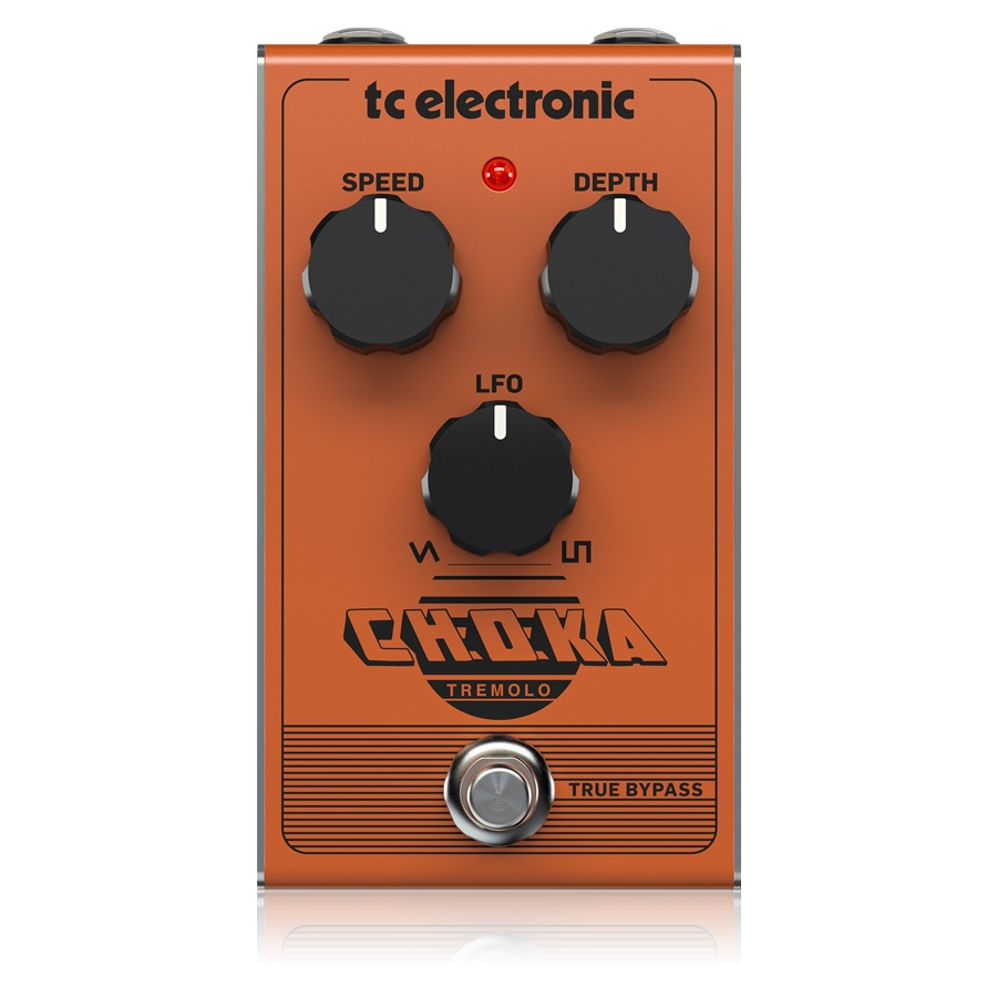 Vintage-Flavored All-Analog Tremolo Pedal with 3-Knob Design and Seamless Morphing Between LFO Styles