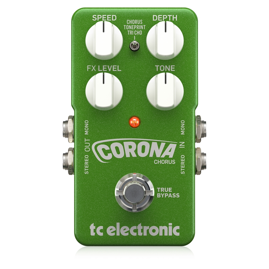 High-Quality TonePrint-Enabled Chorus Pedal with 2 Built-In Choruses, Tone Adjustment Control and Stereo I/O