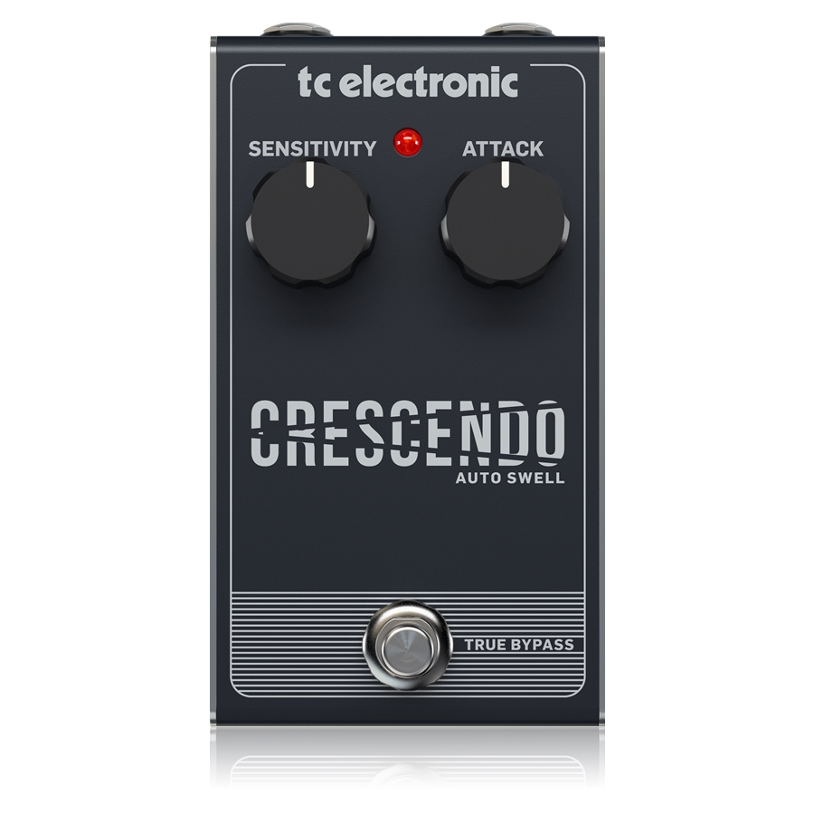 Responsive Crescendo Pedal with 2-Knob Interface for Haunting Guitar Line Manipulation