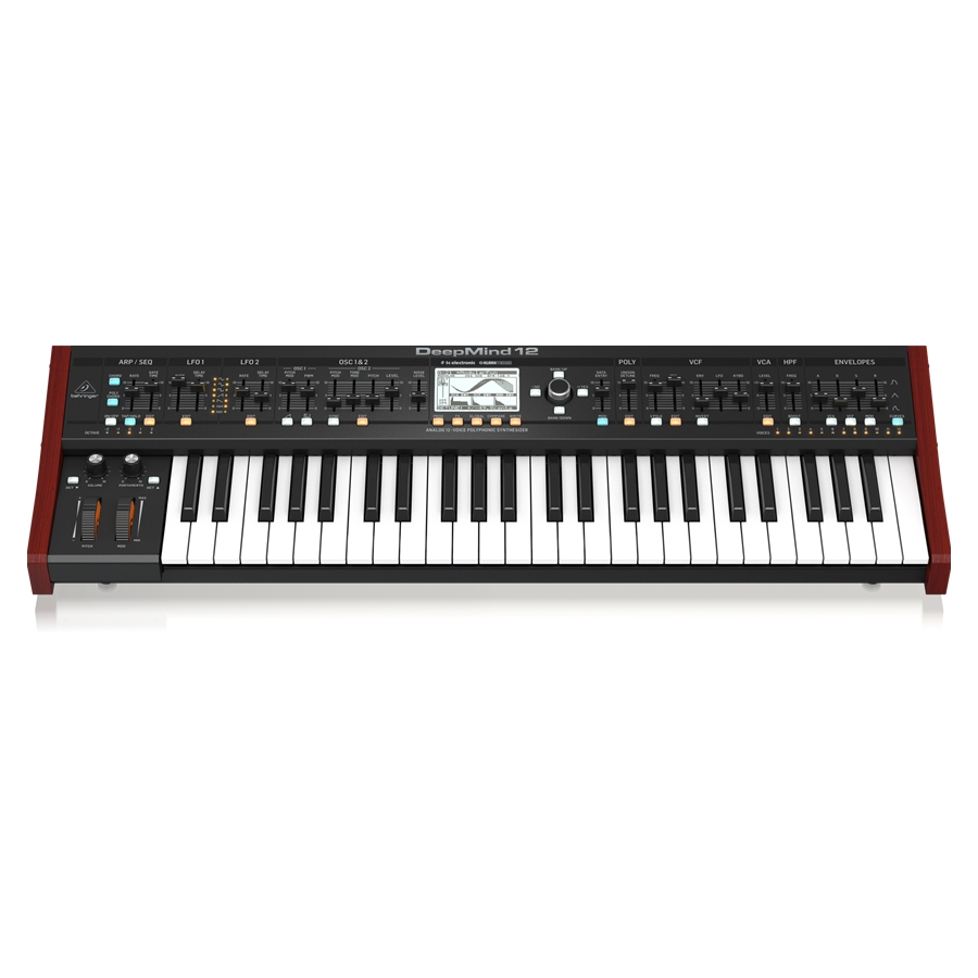 True Analog 12-Voice Polyphonic Synthesizer with 4 FX Engines, 2 OSCs and LFOs per Voice, 3 ADSR Generators, 8-Channel Modulation Matrix, 32-Step Control Sequencer, Tablet Remote Control and Built-In Wifi