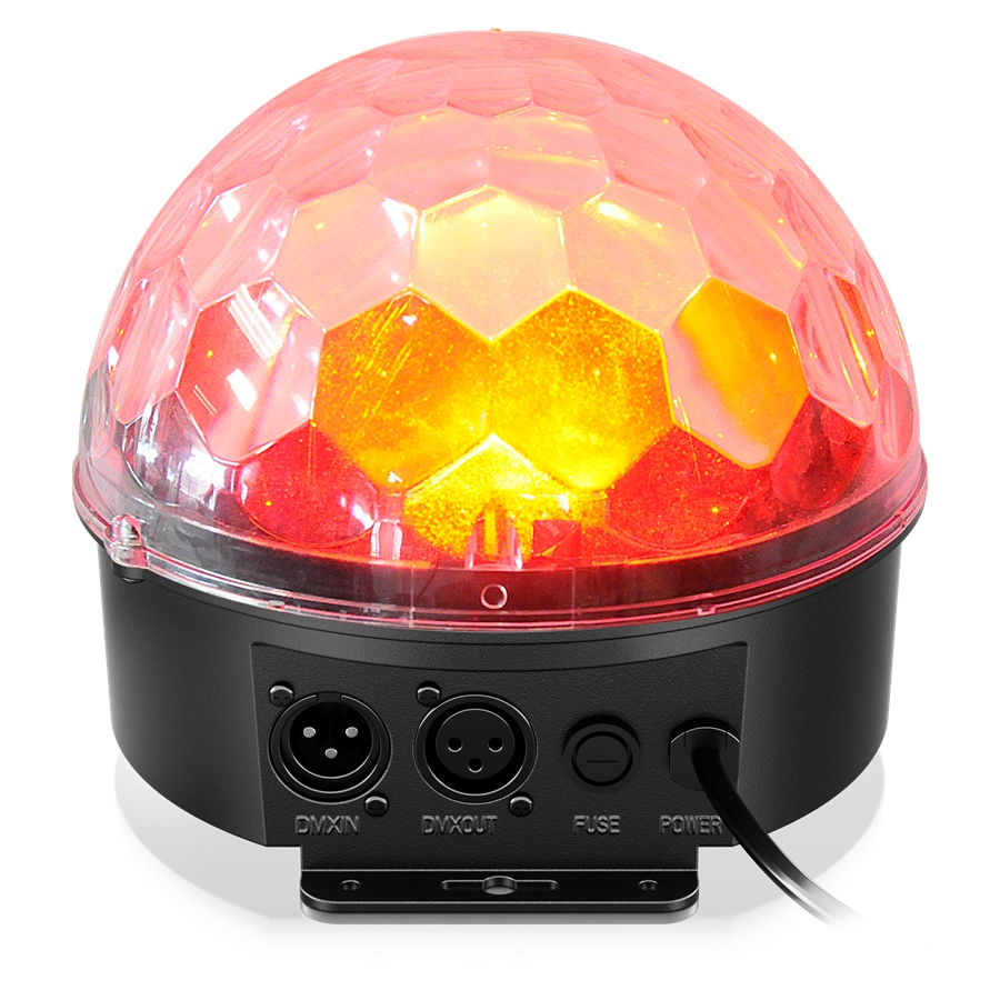 Multimode RGBWA-UV LED Mirror Ball Lighting Effect with Remote Control