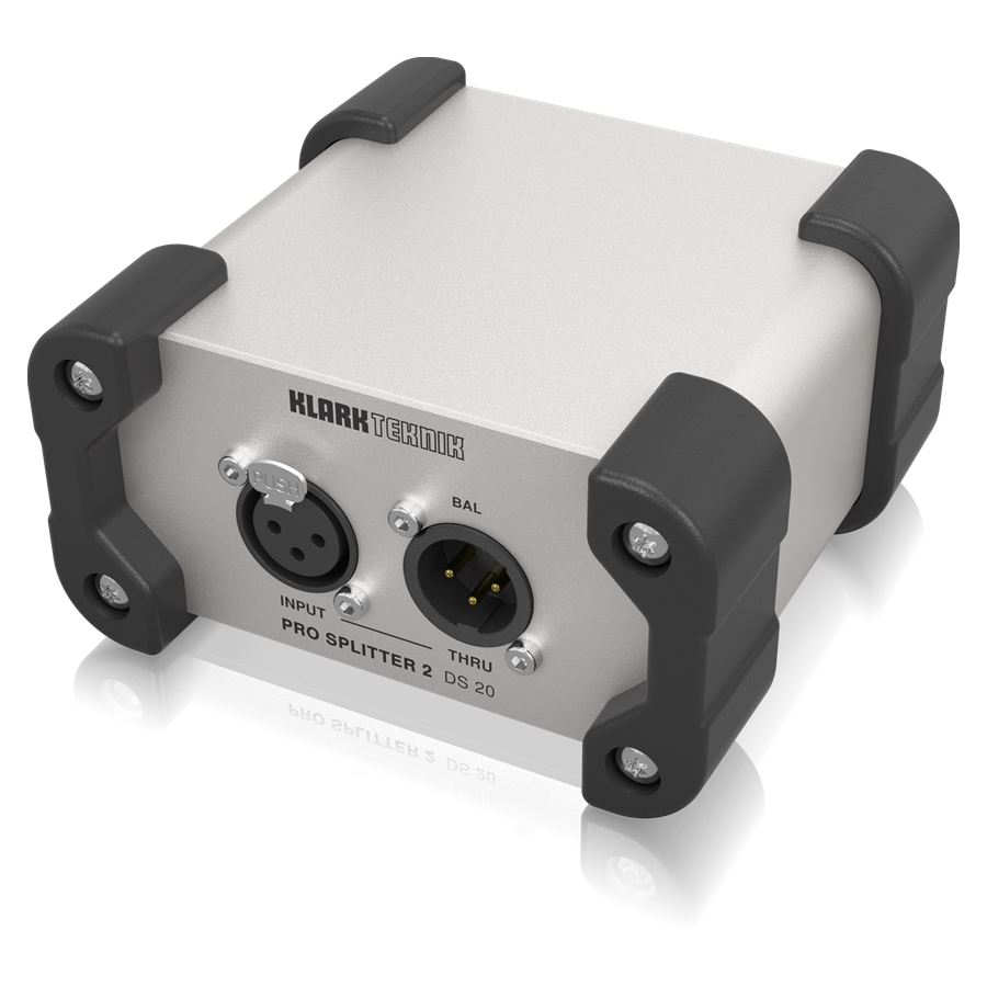 Passive 1-In / 2-Out Signal Splitter with Midas Transformer and Extended Dynamic Range