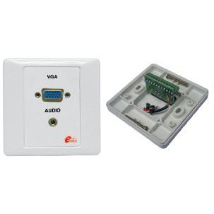 EMIX | EMVGA-PP-PCB | VGA Panel with Mini Stereo Jack comes with PCB