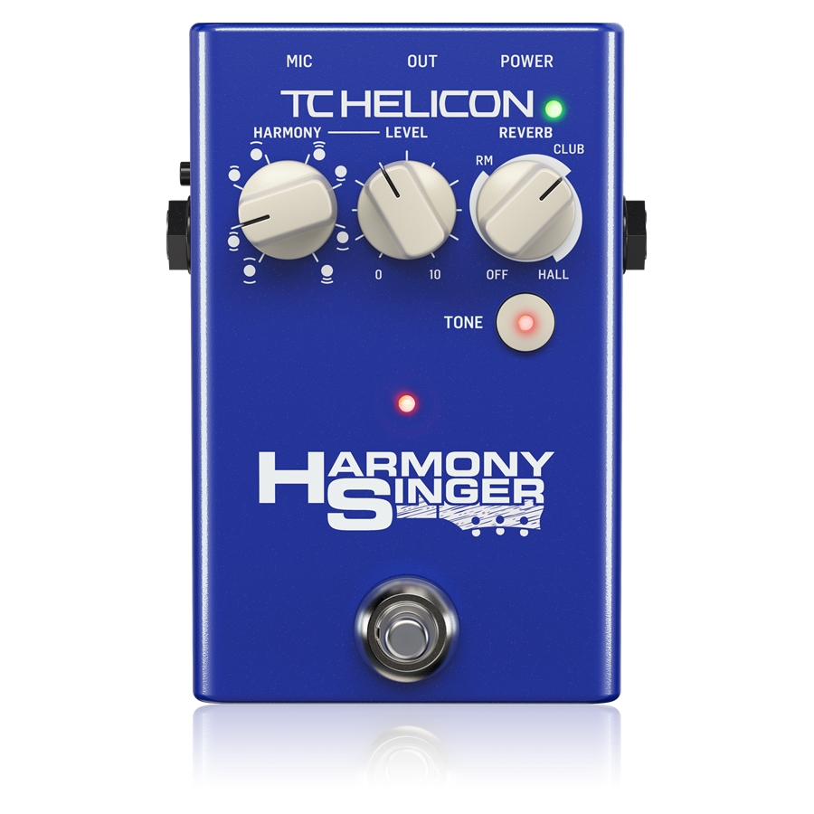 Battery-Powered Vocal Effects Stompbox with Guitar-Controlled Harmony, Reverb and Tone