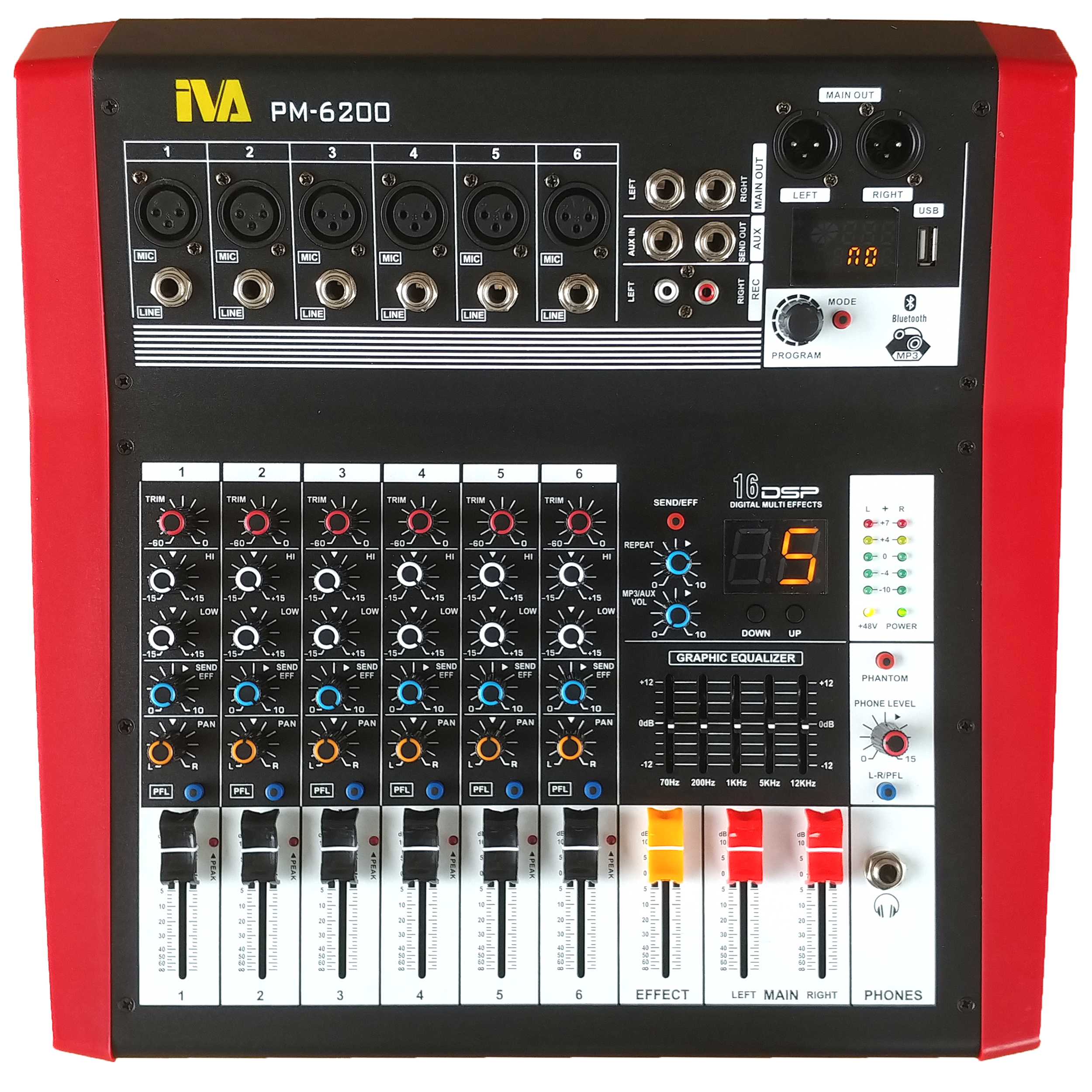 PM-6200 Powered Mixer | PM-6200