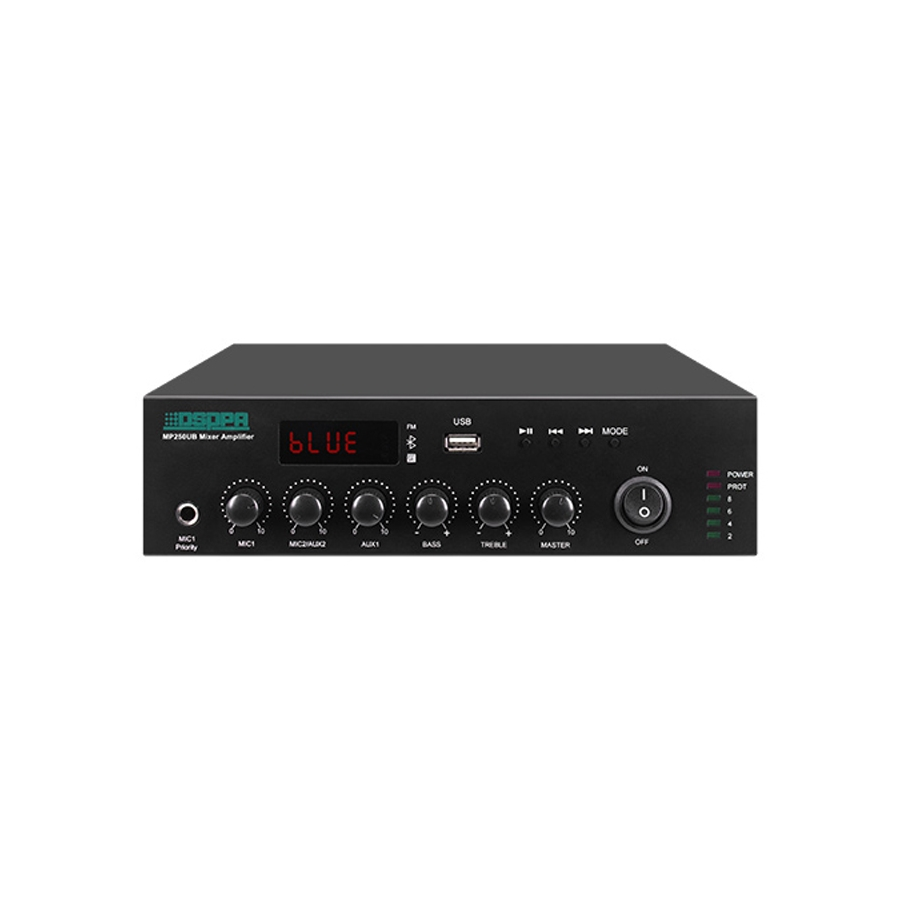 MP250UB Mini Digital Mixer Amplifier with USB & Bluetooth
