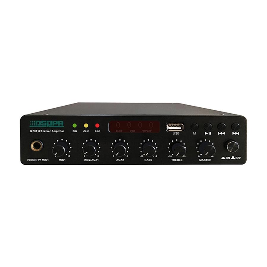 MP9312D 120W Ultra-thin Digital Mixer Amplifier