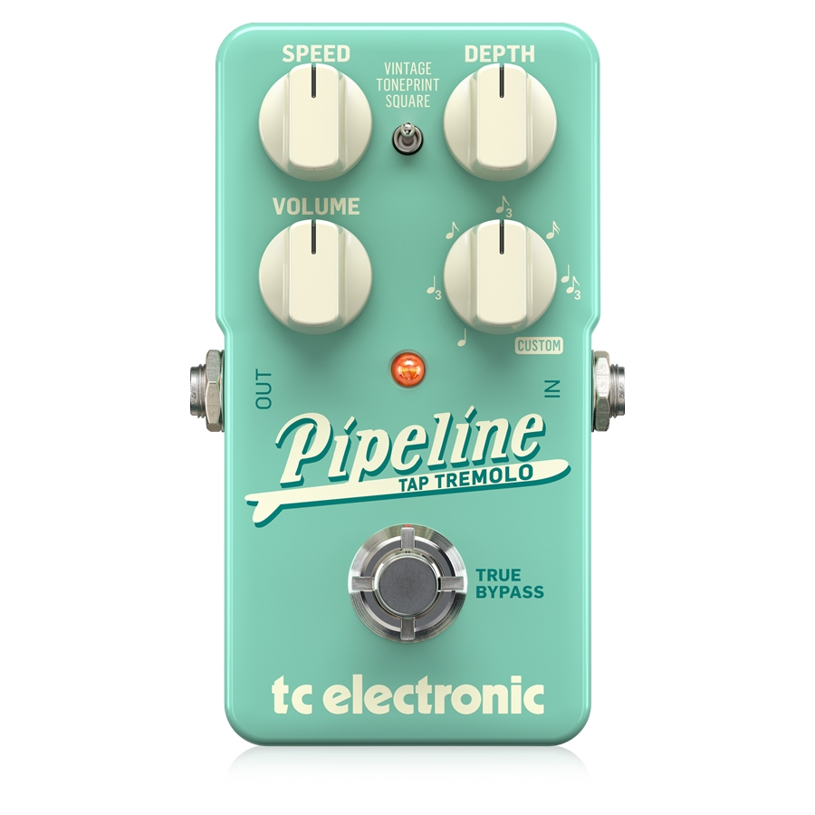Ingenious Tap Tempo Tremolo with Sequencer, Subdivisions and TonePrints* For Both Vintage and Adventurous Tremolo Sounds