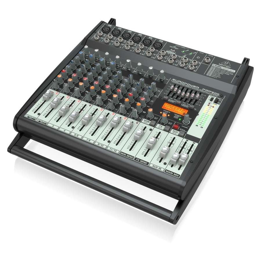 500-Watt 12-Channel Powered Mixer with Klark Teknik Multi-FX Processor, Compressors, FBQ Feedback Detection System and Wireless Option