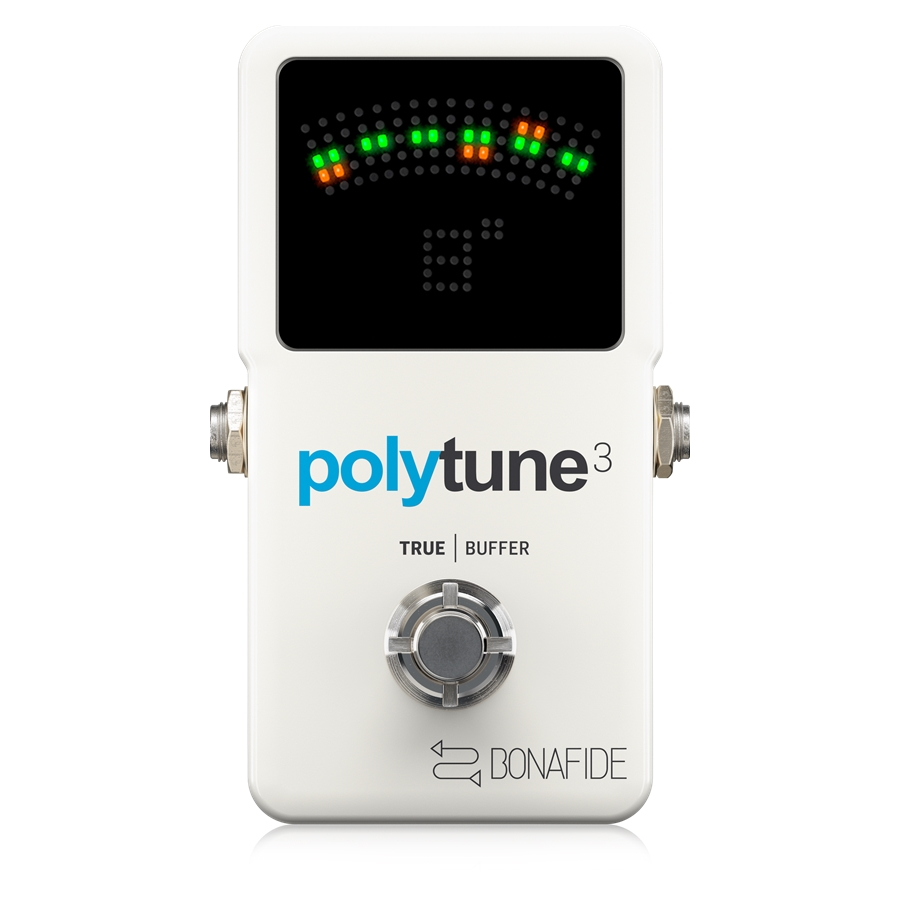 Ultra-Compact Polyphonic Tuner with Multiple Tuning Modes and Built-In BONAFIDE BUFFER