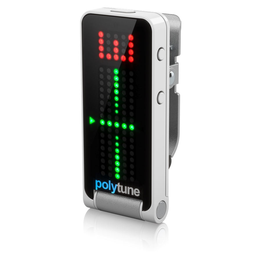 Clip-On Tuner with Polyphonic, Strobe and Chromatic Modes and 108 LED Matrix Display for Ultimate Tuning Performance