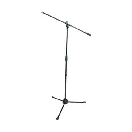 Microphone stand with boom, tripod nylon base