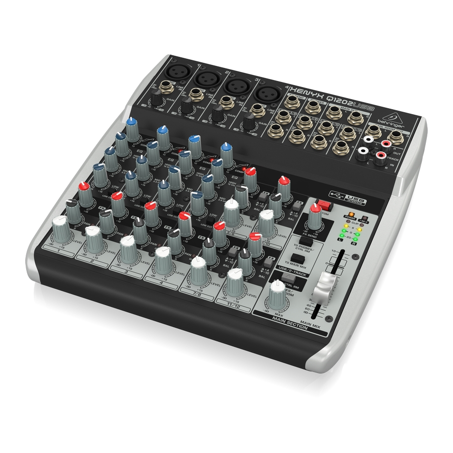 Premium 12-Input 2-Bus Mixer with XENYX Mic Preamps & Compressors, British EQs and USB/Audio Interface