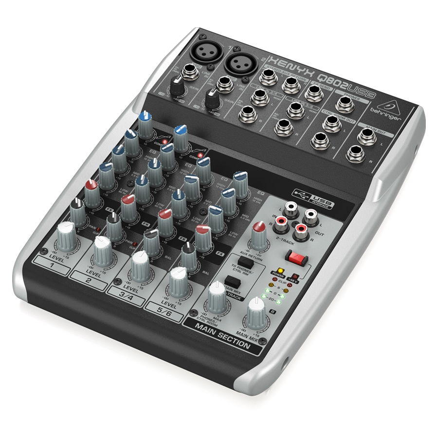 Premium 8-Input 2-Bus Mixer with XENYX Mic Preamps & Compressors, British EQs and USB/Audio Interface