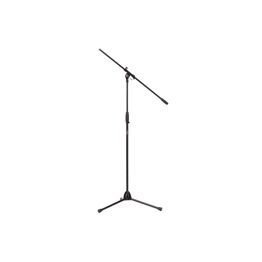Professional microphone stand with fixed boom.