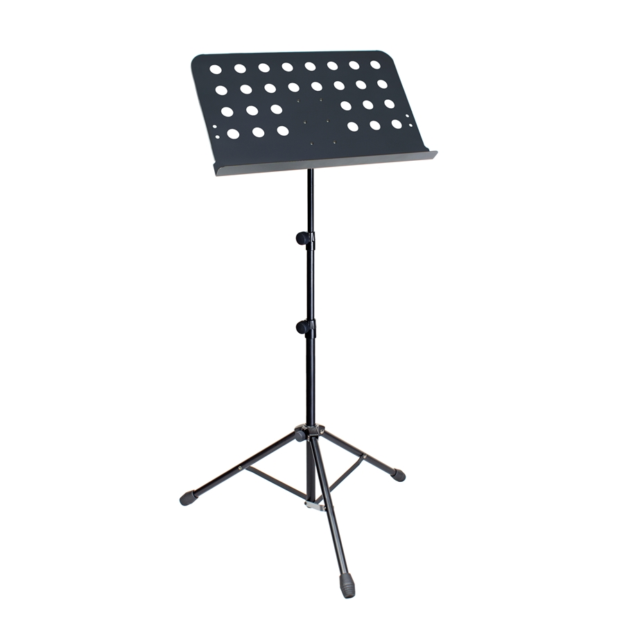 Professional sturdy steel tube music stand. Adjustable height.