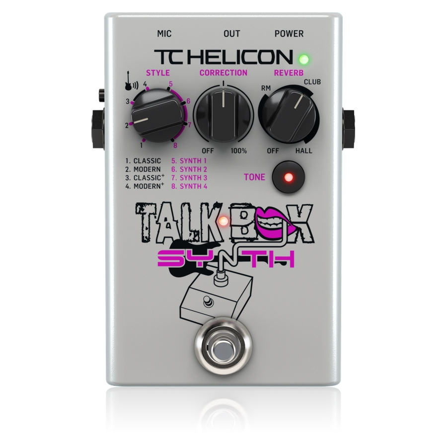 Studio-Quality Stompbox for Guitar Talkbox Effects and Vocal Tone Polishing