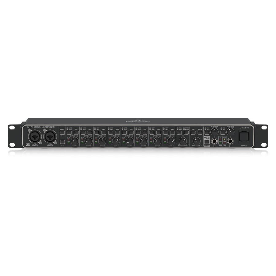 Audiophile 18x20, 24-Bit/96 kHz USB Audio/MIDI Interface with Midas Mic Preamplifiers