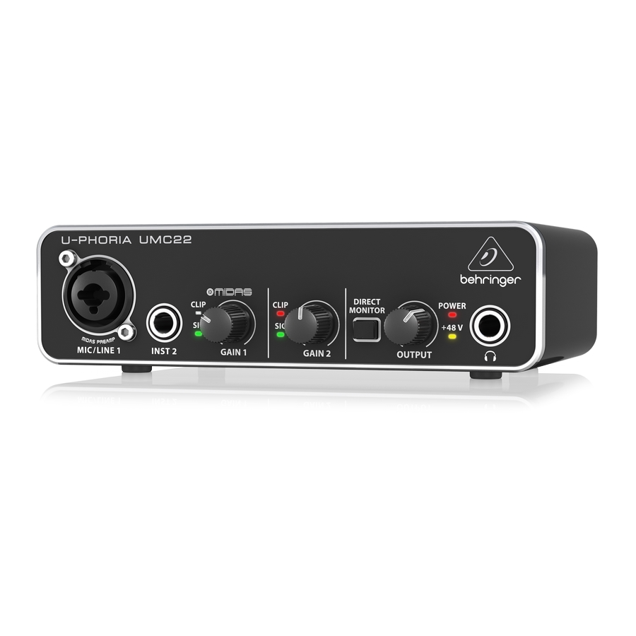 Audiophile 2x2 USB Audio Interface with Midas Mic Preamplifier