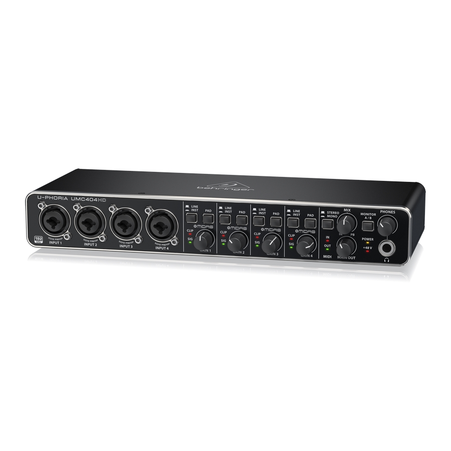 Audiophile 4x4, 24-Bit/192 kHz USB Audio/MIDI Interface with Midas Mic Preamplifiers