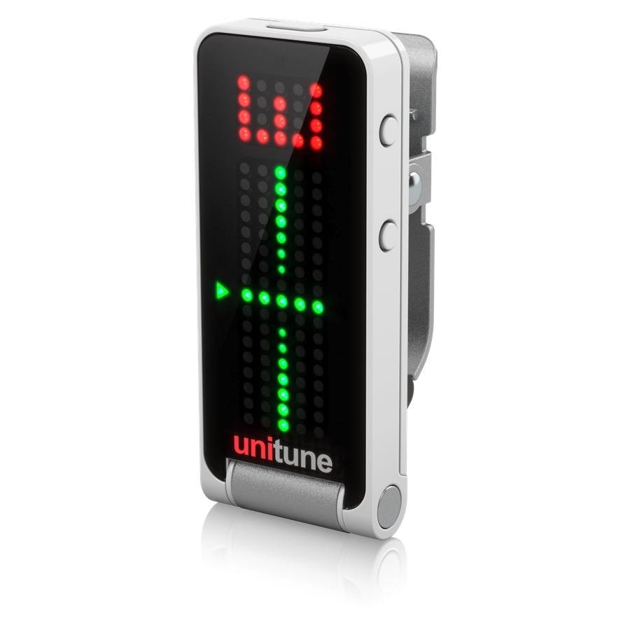 Clip-On Tuner with Strobe and Chromatic Modes and 108 LED Matrix Display for Uncompromised Tuning Quality