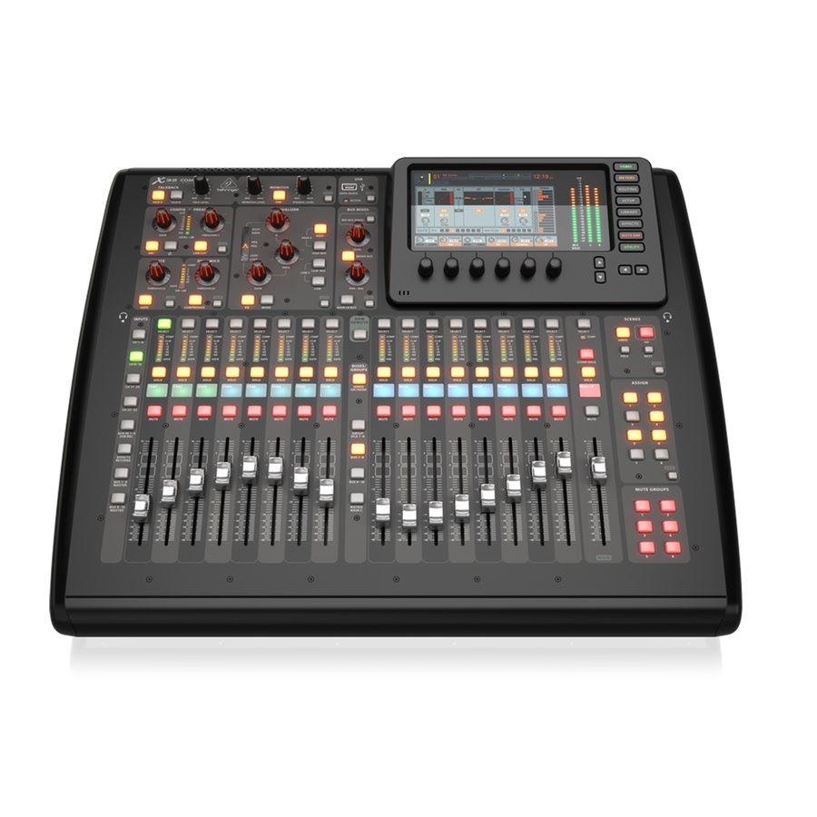 Compact 40-Input, 25-Bus Digital Mixing Console with 16 Programmable Midas Preamps, 17 Motorized Faders, Channel LCD's, 32-Channel Audio Interface and iPad/iPhone* Remote Control
