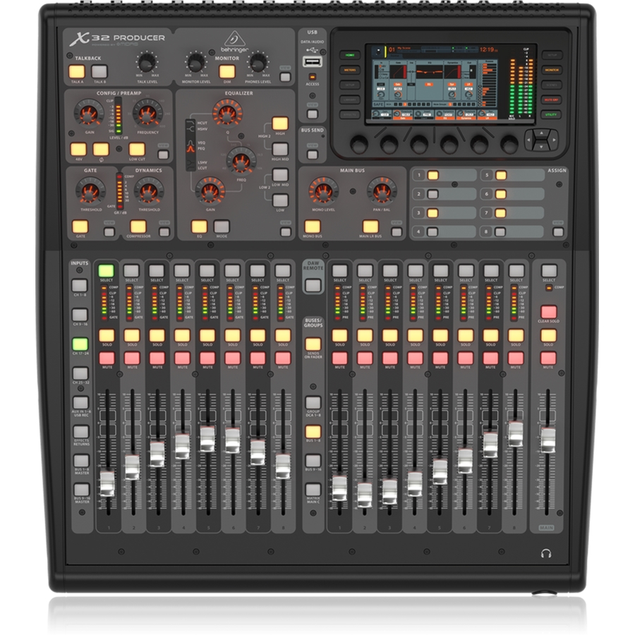 40-Input, 25-Bus Rack-Mountable Digital Mixing Console with 16 Programmable Midas Preamps, 17 Motorized Faders, 32-Channel Audio Interface and iPad/iPhone* Remote Control