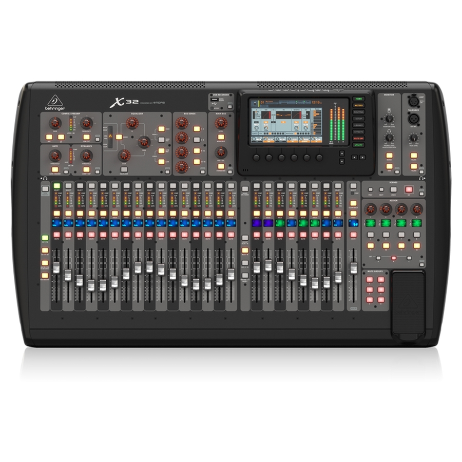 18-Channel, 12-Bus Digital Mixer for iPad/Android Tablets with 16 Programmable Midas Preamps, Integrated Wifi Module and Multi-Channel USB Audio Interface