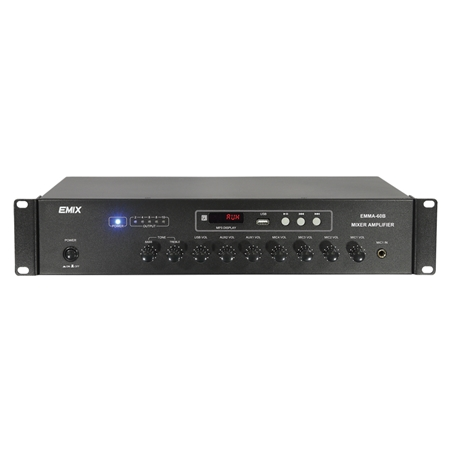 EMIX | EMMA-60B / EMMA-120B | 60W / 120W Mixing Amplifier with USB Player