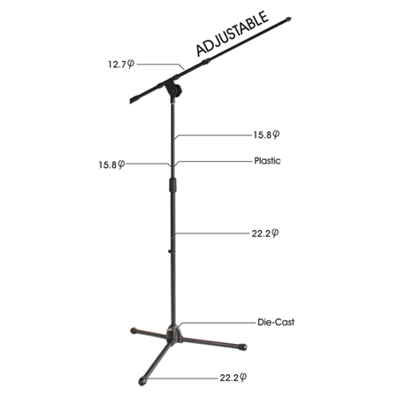 Adjustable Boom Arm Stand