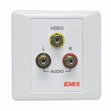 EMIX | EMAV-PP | Audio Visual Receptacle Panel