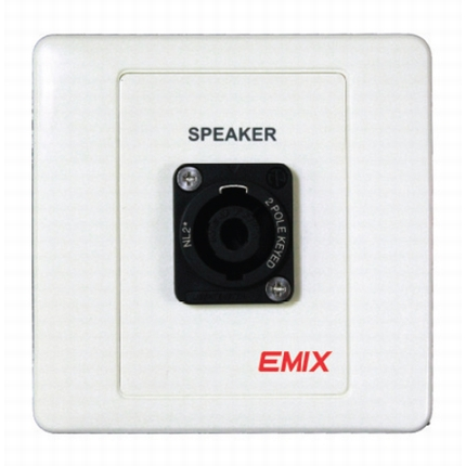 EMIX | EMNL2MP-PP | Speaker Socket Panel